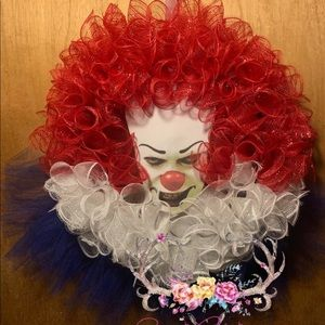 Pennywise Halloween Wreath